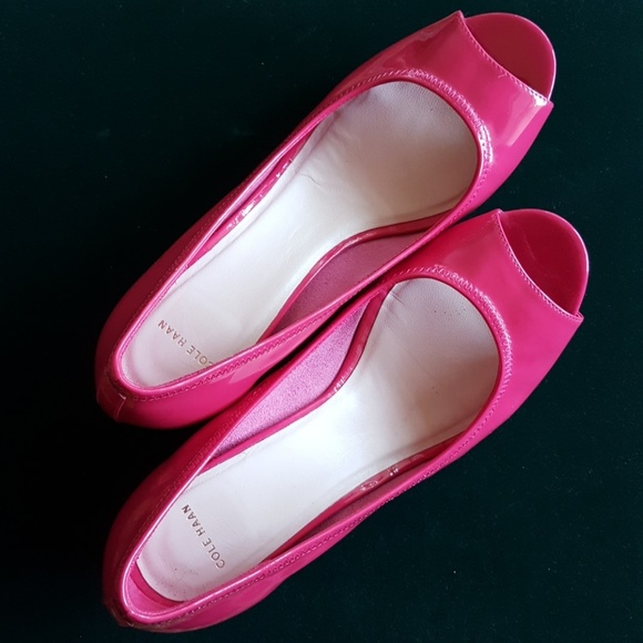 Cole Haan Shoes - Cole Haan Patent Pink Peeps!